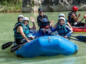 Aventura en familia Rafting