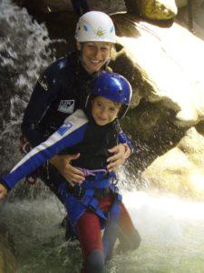 Barrancos con niños en Sierra de Guara