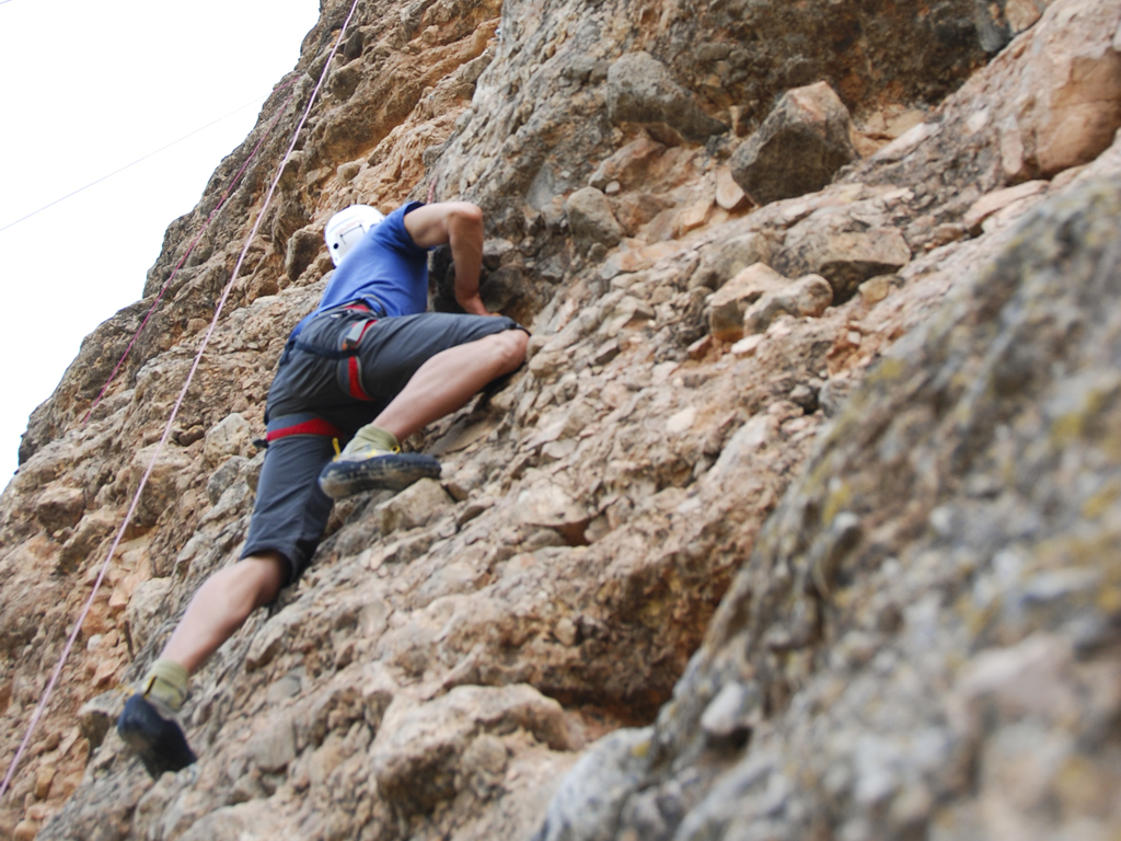 Escalada cerca de Murillo de Gállego