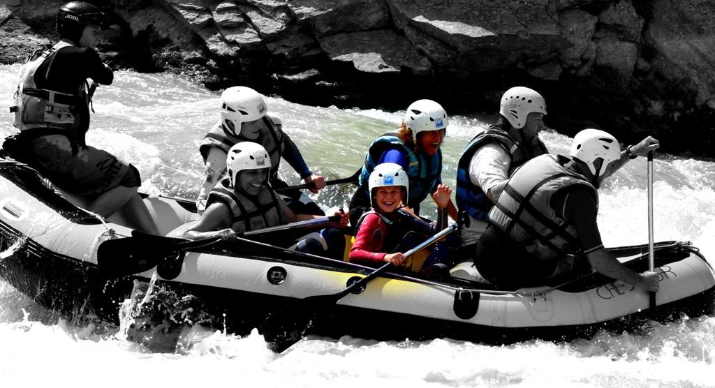 Rafting con hijos Huesca