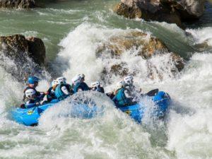 Rafting deporte de aventura Huesca