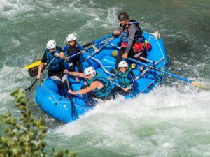Rafting en familia con niños Río Gállego