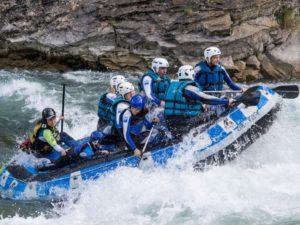 Rafting en familia en Jaca