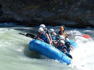 Rafting en familia en Pirineo