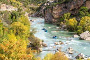 Rafting en otono pirineo