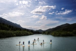 StandUp Paddle SUP en rio Pirineo UR Pirineos