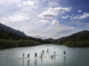 StandUp Paddle SUP en rio Pirineos UR Pirineos