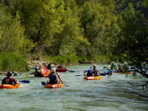 Travesia en Canoa Rio Gallegp