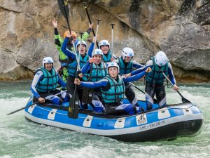 Viaje de estudios con rafting y aventura