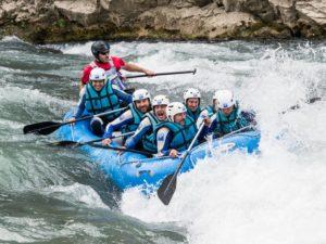 Rafting en primavera rio gallego