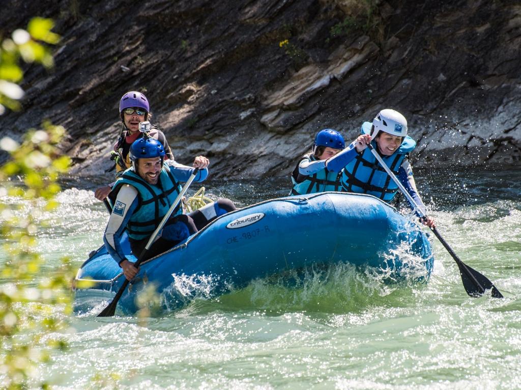 Rafting en familia en Huesca