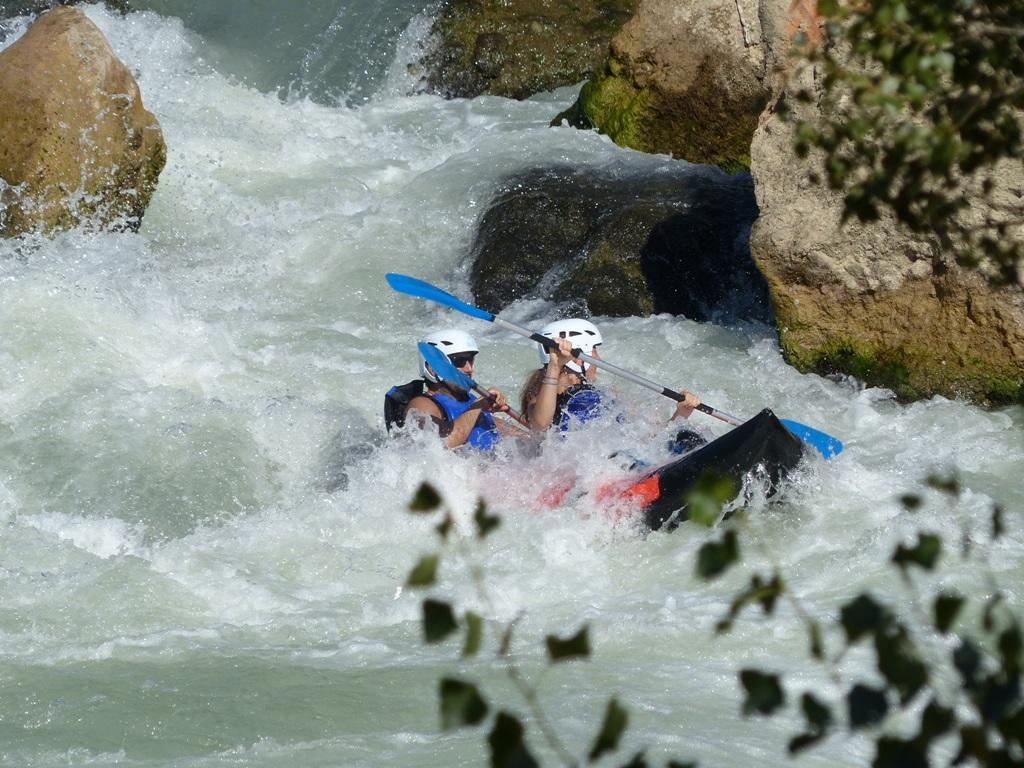 Canoraft y Kayak rio Gallego Ur Pirineos