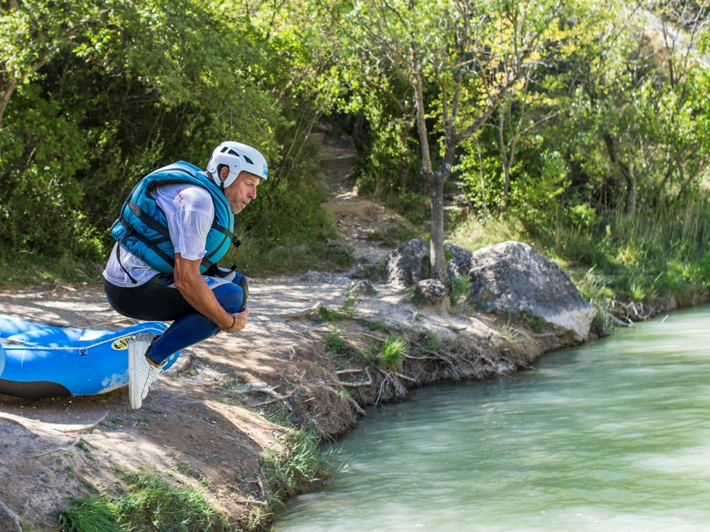 Actividad contra el calor Rafting huesca jaca pirineos