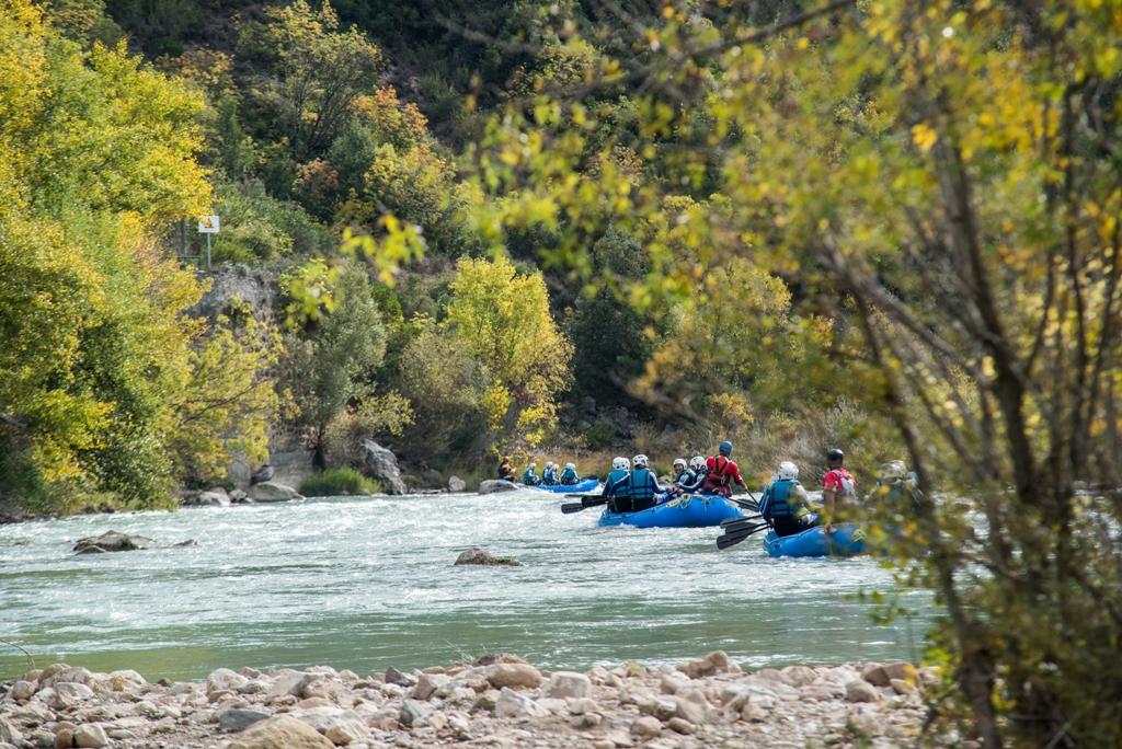 Rafting en otoño rio gallego HUESCA UR Pirineos