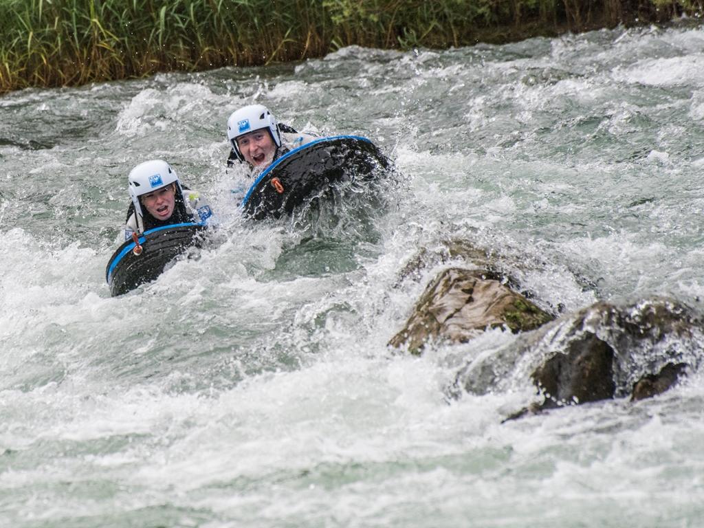 Oferta hidrospeed en primavera rio gallego huesca adrenalina UR Pirineos semana santa Puente de Mayo