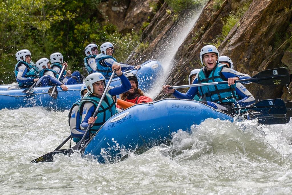 Rafting en verano en el Pirineo