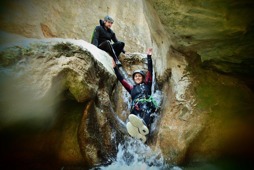 Descenso de Barrancos con UR Pirineos Huesca Alquezar Sierra de Guara