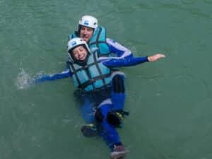 rafting en pareja