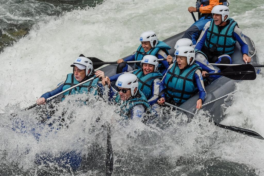 rafting niños
