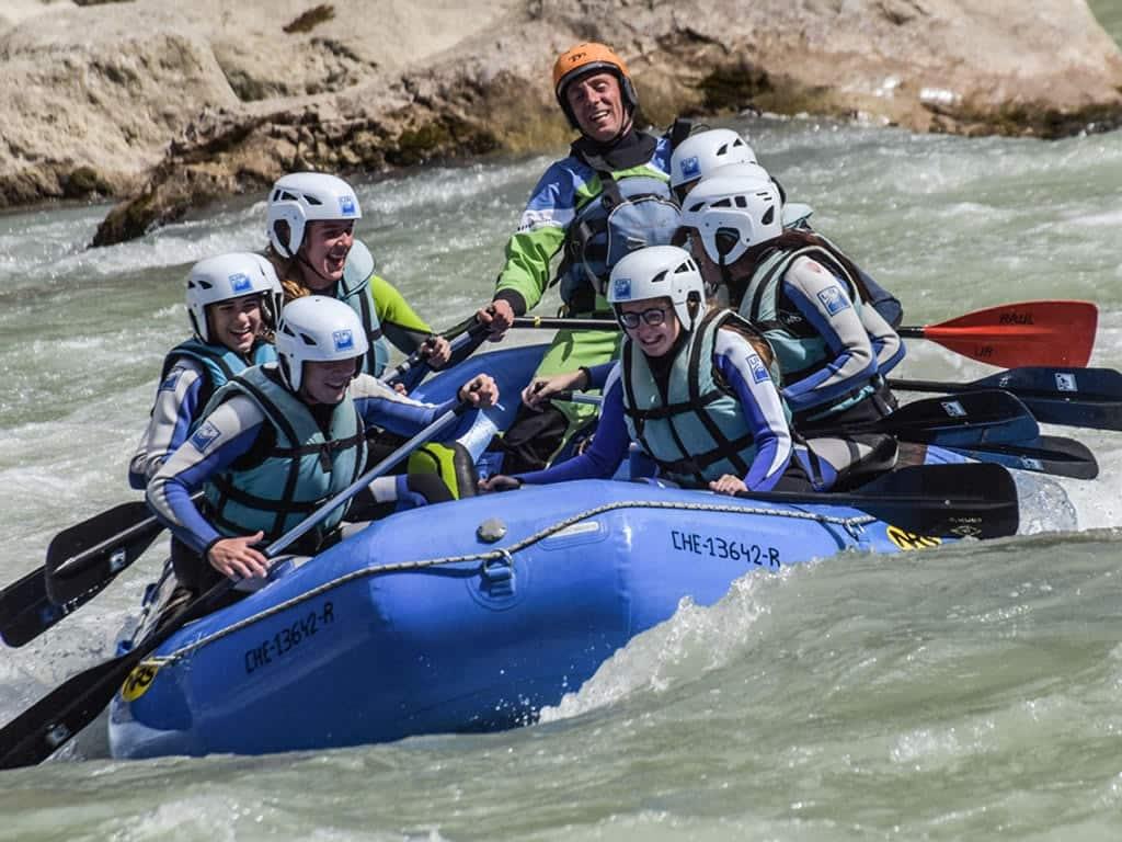 Rafting con niños Pirineo